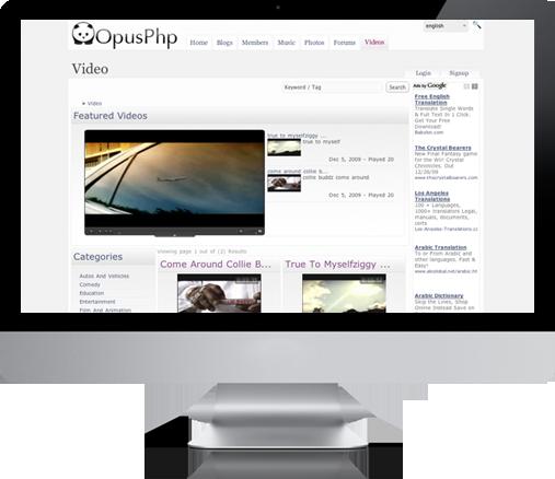 OpusPhp CMS Social Networking Script